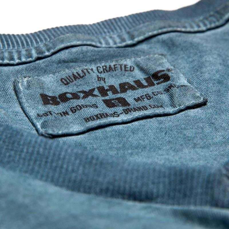 Abverkauf BOXHAUS Brand Sairon V-Neck T-Shirt tealblue