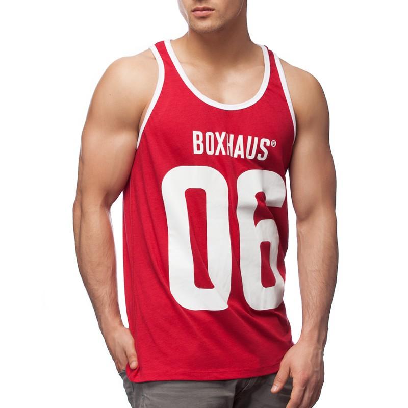 Abverkauf BOXHAUS Brand Kontrast Tank Top Monroe red