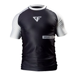 Ground Force Rank Rashguard SS White