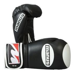 Manus Competition 10oz Boxhandschuhe Schwarz Weiss