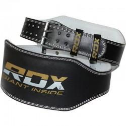 RDX Gewichthebergürtel Leder 6Zoll schwarz gold