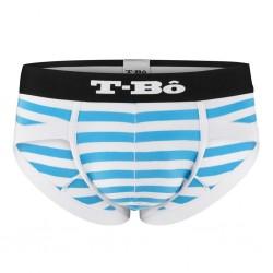T-Bo Slip The Ballsy Striped Norse Blue