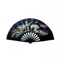 Abverkauf Phoenix Kung Fu Tai Chi Fächer Bambus Schwarz