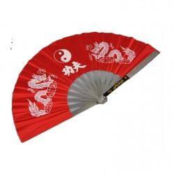 Phoenix Kung Fu Fächer Rot Metallrahmen