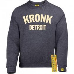 Kronk Detroit Sweatshirt Charcoal Cream