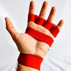 Phoenix Faustschützer Hand Mitt Leder Rot