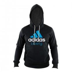 Abverkauf Adidas Community Hoody Boxing Schwarz blau