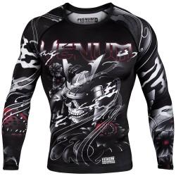 Abverkauf Venum Samurai Skull Rashguard LS Black