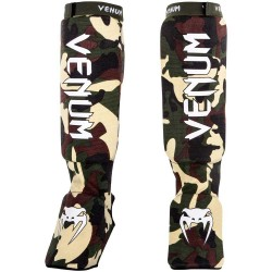Venum Kontact Shinguards Forest Camo