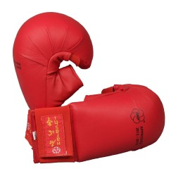 Hayashi Karate Faustschützer Tsuki mit Daumen WKF Approved Rot