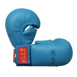 Hayashi Karate Faustschützer Tsuki mit Daumen WKF Approved Blau