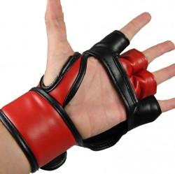 Abverkauf Phoenix MMA Handschutz PU Schwarz Rot