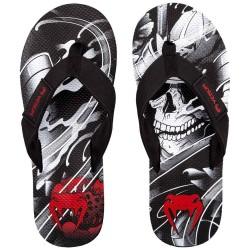 Venum Samurai Skull Sandals Flip Flops Black