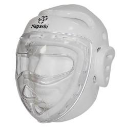 Hayashi Kopfschutz mit Maske Weiss