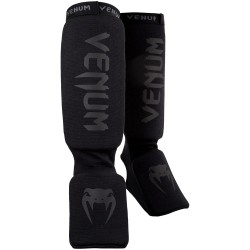 Venum Kontact Shinguards Black Black
