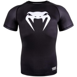 Venum Contender 3.0 Compression T-Shirt SS Black White
