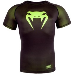 Venum Contender 3.0 Compression T-Shirt SS Black Neo Yellow
