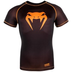 Venum Contender 3.0 Compression T-Shirt SS Black Neo Orange