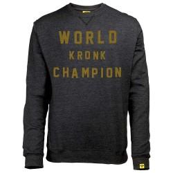 Kronk World Champion Retro Style Sweatshirt Black Heather