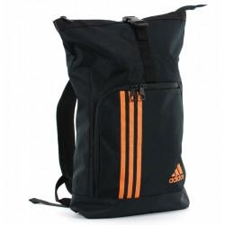 Adidas Seesack Sporttasche Rucksack Schwarz Orange L ADIACC041