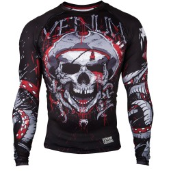 Abverkauf Venum Pirate 3.0 Rashguard LS Black Red
