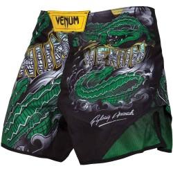 Venum Crocodile Fightshorts Black Green