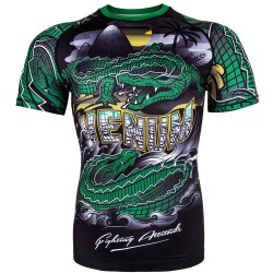 Venum Crocodile Rashguard SS Black Green