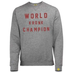 Kronk World Champion Retro Style Sweatshirt Grey Heather