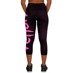 Venum Giant Leggings Crops Women Black Neo Pink