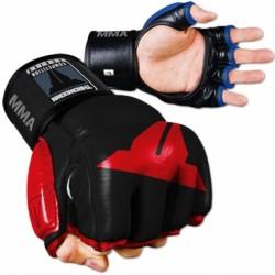 Abverkauf Throwdown Amateur Hybrid Gloves Leder red black