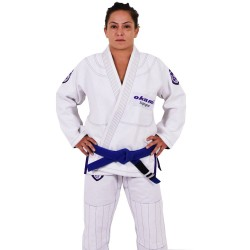 OKAMI fightgear BJJ Women Gi SHIELD white purple