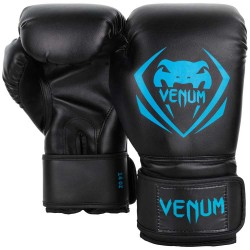 Venum Contender Boxing Gloves Black Cyan