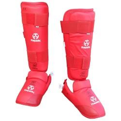 Hayashi Karate Schienbein- und Spannschutz Rot WKF Approved