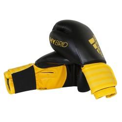 Abverkauf Adidas Hybrid 100 Boxhandschuhe Schwarz Gelb