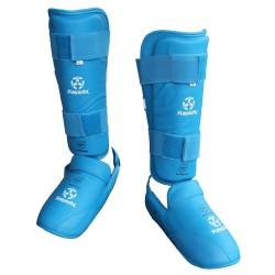 Hayashi Karate Schienbein- und Spannschutz Blau WKF Approved