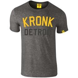 Kronk Two Colour Iconic Detroit Slim Fit T-Shirt Charcoal Melang