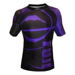Fuji Freestyle Ranked IBJJF Rashguard SS Purple Black