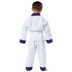 Kwon Drachenkralle Anzug Weiss Revers Lila