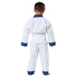 Kwon Drachenkralle Anzug Weiss Revers Blau