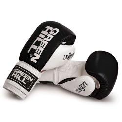 Green Hill Legend Boxhandschuhe Schwarz Weiss