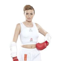Hayashi Brustschutz Frauen WKF Approved Weiss