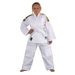 Kwon Junior Judoanzug Weiss Mit Schulterstreifen