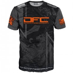 Phantom EVO DFC Dutch Fitness Community T-Shirt Black Neon
