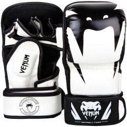 Venum Impact Sparring MMA Gloves White Black