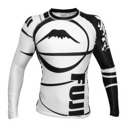Fuji Freestyle Ranked IBJJF Rashguard LS White Black