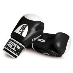 Green Hill Tiger Boxhandschuhe Schwarz Mit Trefferfläche