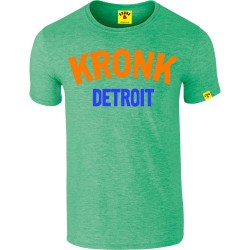 Kronk Two Colour Detroit Slim Fit T-Shirt Heather Irish Green