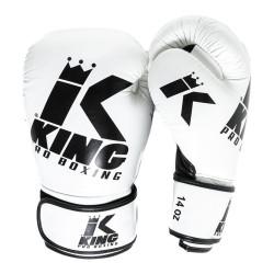 King Pro Boxing Boxhandschuh Platinum 5 White Black