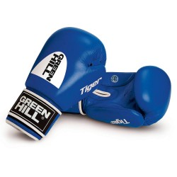 Green Hill Tiger AIBA Boxhandschuhe Blau