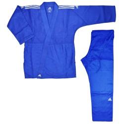 Adidas J650 Judo Contest Gi Blau Silber